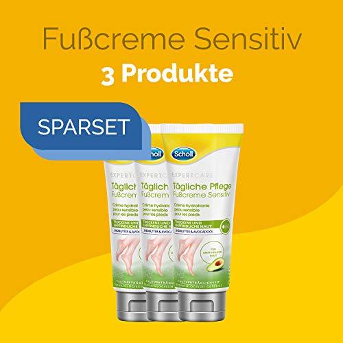 Scholl Set Tägliche Pflege Fußcreme sensitiv mit Sheabutter und Avocadoöl 225ml (3x75ml)