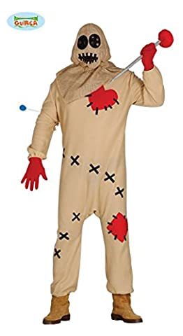 Voodoo Puppen Halloween Kostüm für Herren blutige Puppe Halloweenkostüm Herrenkostüm Voodookostüm Puppenkostüm Vogelscheuche Gr. M/L, Größe:M/L