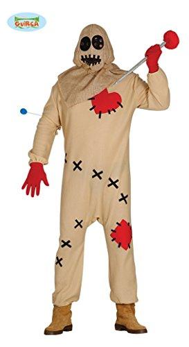 Voodoo Puppen Halloween Kostüm für Herren blutige Puppe Halloweenkostüm Herrenkostüm Voodookostüm Puppenkostüm Vogelscheuche Gr. M/L, (Voodoo Puppe Eine Kostüm)