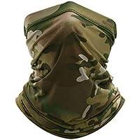 JMAHM Calentador de cuello cubre cara máscara transpirable adecuado para protección solar al aire libre a prueba de polvo