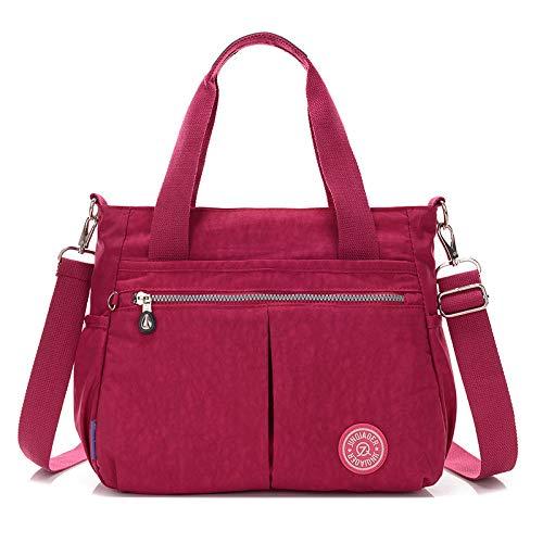 Mode Handtasche wasserdicht Nylon weiblichen Umhängetasche Farbe Frauen Diagonale Cross Bag Traube lila -