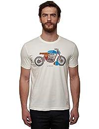 Royal Enfield Re Gt Contrast Frame Of White T-Shirt (2XL) 46 CM(RLATSG000257)