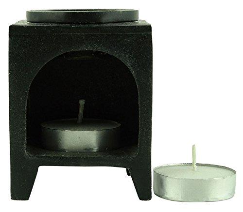 Aromaöl-Wärmer Marmor-Brenner Duft-Halter Wachs Teelicht Diffusor Home Decor Geschenk-Set -