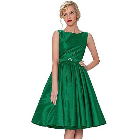 SEXYHER con clase ropa Audrey Hepburn Vintage Estilo Cl¨¢sico Rockabilly vestido del oscilaci¨®n 1950 Tarde -