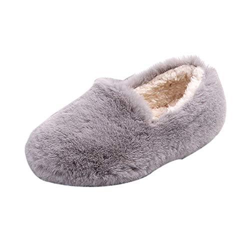 Beikoard Kinderkinderkind Mädchen Feste Winter warme flaumige Mengen-einzelne zufällige Schuhe Plus Samt Plüsch Baumwollschuhe Gefüttert Winterschuhe