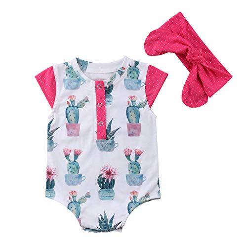 Kurzarm-Kaktus-Wellenpunkt-der-Babykleidung,Neugeborenes-Baby-Mädchen-Dot-Gedruckt-Strampler-Outfits,Strampler-Bodysuit-Stirnband,Mode-Schön-Freizeit-Warm-Stilvoll,Süße-Frisch-Und-Elegant