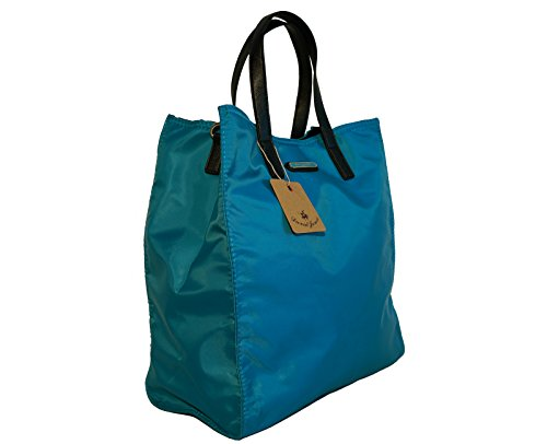 Borsa donna David Jones in nylon modello shopper Turchese