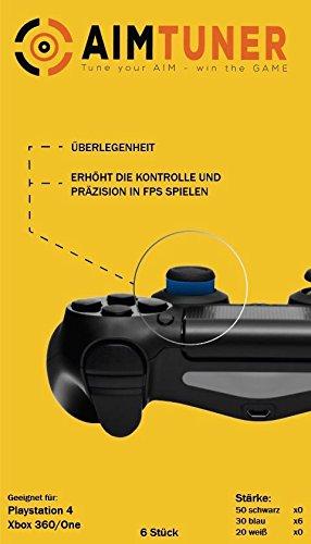 AimTuner 6 Blaue Schaumstoff Ring zur Verbesserung deiner Zielsicherheit PS4 Aim Assistance Stoßdämpfer Zielhilfe Analogstick