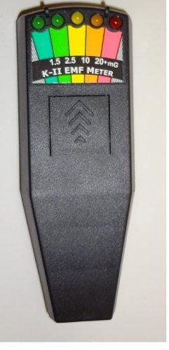 K2 K-II EMF Meter Deluxe BLACK-New & Improved Design