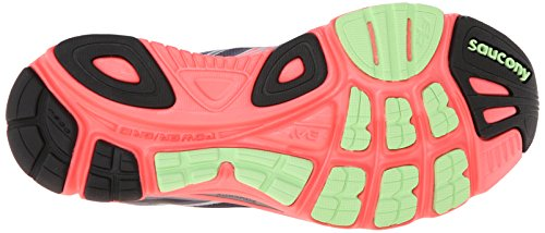 Saucony Women's Mirage 5 Running Shoe,Grey/Vizi Coral/Green,11.5 M US Gry-Cor-Grn