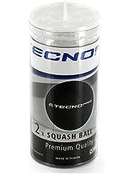 TECNO PRO SQUASH BALLS - BLUE DOT - SIZE 1 - (2 IN A TUBE) by Tecno Pro