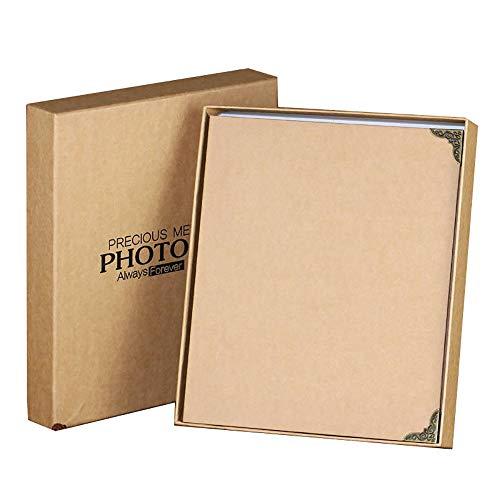 L.HPT Fotoalbum Selbstklebende Seiten Reisen Memory Book Scrapbook fotobuch Hochzeit Gästebuch fotoalben Für Geschenk Freund Hält 150 Fotos 23 * 27CM, Brown
