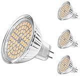 MHtech 4 Stück MR16 GU5.3 LED Lampen 5W 380 Lumen 3000K Warmweiß Ersetzt für 50W Halogen LED Lampe Spots LED Leuchtmittel Energiesparlampe Abstrahlwinkel 120º AC/DC 12V (Warmweiß)