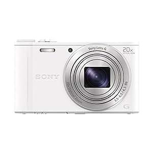 Sony DSC-WX350W Appareils Photo Numérique, Capteur CMOS Exmor R, 18.2 Mpix, Zoom Optique 20x - Blanc