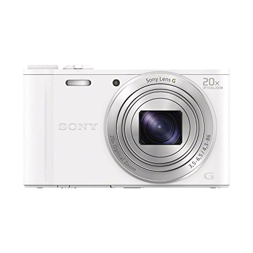 Sony DSC-WX350 Digitalkamera (18,2 Megapixel, 20-fach opt. Zoom, 7,5 cm (3 Zoll) LCD-Display, NFC, WiFi) weiß