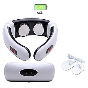 Huangwanru Muscle Massage Gun Neck MiniMassager elektrischen Impuls AnsatzMassager Halswirbel Impulse Massage Übung Massage und Fitness-Relax