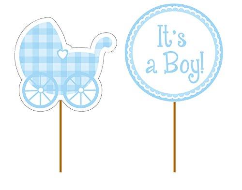 12-teilige Cupcake-Dekoration * BABY BOY * für Kindergeburtstag oder Geburt // Kinder Geburtstag Muffin Deko