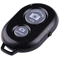 HOTNIX Bluetooth Remote Controller Shutter Button for Selfie Click and Photos Compatible with All Smartphones - Black