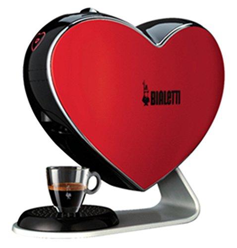 Espresso Kapselmaschine Cuore rot Espressomaschine Espressokocher