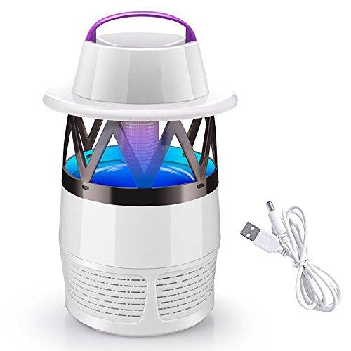 *Home-Neat Umweltfreundliche LED Mückenfalle (Verbessertes Model), Insektenfalle Mit Vakuum Ventilator Zum Fangen Von Kleinen Insekten, Inklusive Kostenlosen Mückenlockstoff USB wechseln*