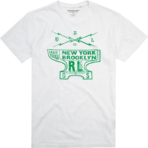Polo Ralph Lauren Denim&Supply Herren T-Shirt Shortsleeve, Größe: L, Farbe: Weiß