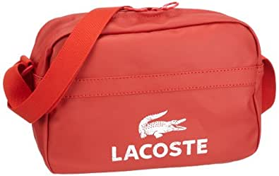 Lacoste Mens Airline Bag Shoulder Bag Red Rot (CLAY) Size: 33x32x11 cm (B x H x T)