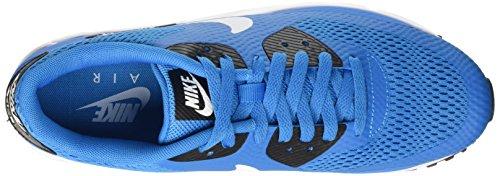 Nike Air Max 90 Ultra Essential, Baskets Basses Homme, Weiß Azul / Blanco / Negro (Heritage Cyan / White-Black-Wht)