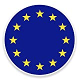 2 x 10cm EU Europe Flag Map Vinyl Sticker Decal Car Laptop European Union #9022 (10cm Wide x 10cm High)