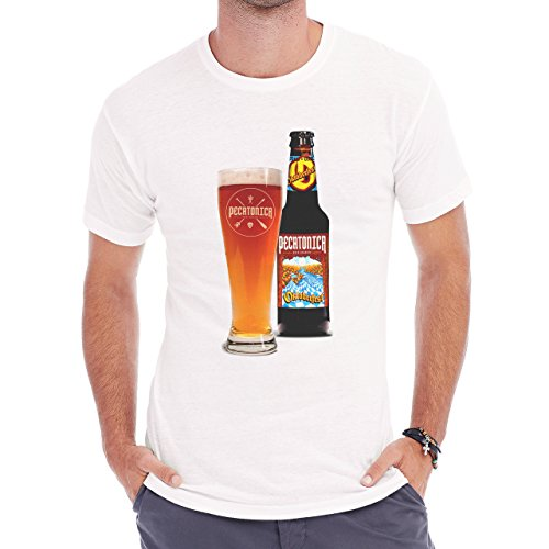 Beer Drink Oktoberfest Glass Dark Pint Golden Lager Herren T-Shirt Weiß