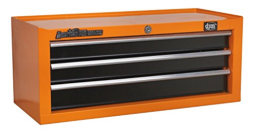 Orange-tool-box (DJM Direct Orange Add On Middle Tool Box Storage Chest 3 Drawer Ball Bearing by DJM Direct)
