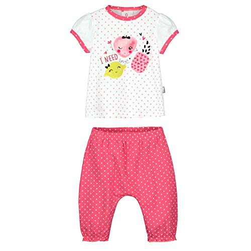 025242b17a83d Petit Béguin - Ensemble bébé fille t-shirt + sarouel Strawberry - Couleurs  - Rose