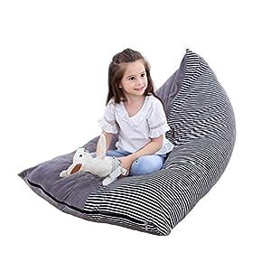 Stofftier Aufbewahrung Sitzsack – Große Sitzsack Stühle für Kinder Plüschtier Aufbewahrung, Kapazität Kristall Samt Sitzsack Beutel Kinder Streifen Stuhl