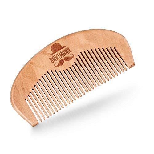 BARTMANN Peigne pour barbe 100% bois de cerisier Fait main Antistatique