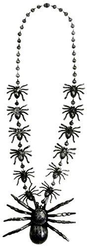 Widmann-Halskette Spinnen Womens, schwarz, 40cm, vd-wdm8598r (Womens Gute Hexe Kostüm)