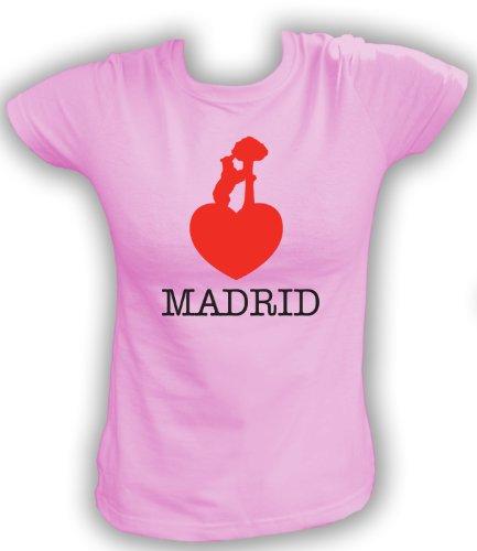 Artdiktat T-Shirt Madrid Liebe Bär Damen, Größe XL, rosa