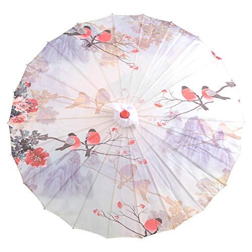 Tanz Holz Kostüm - Maritown Chinesische handgemachte Sonnenschirm dekorative Öl Papier und Bambus Regenschirm für klassischen Tanz Leistung Kostüme Cosplay Fotografie Dekor (gemusterte Polyester, Holz)