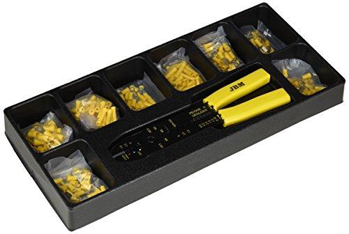 JBM 10733 - Módulo de pelacables y terminales para carro de herramientas, 39.5 x 18 x 5.5 cm, color...