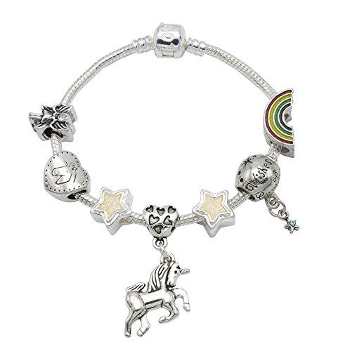 'I Believe in Unicorns' per bambini con charm con confezione regalo Girls