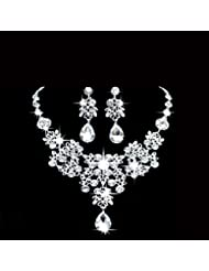 GYJUN Bijoux Colliers décoratifs / Boucles d'oreille Mariage / Soirée Alliage / Strass 1set Femme Argent Cadeaux de mariage