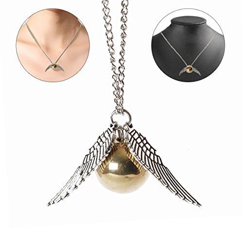 Blue Harry Potter (Schnatz Goldkette Harry Potter und die Heiligtümer des Todes goldenen Schnatz Halskette (1 PC), zufällige Farbe)