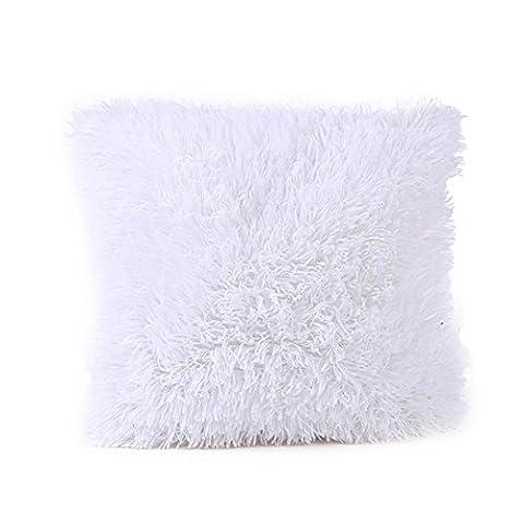 Sunnywill Kissen Fällen Sofa Taille Throw Kissen Cover Home Decor für Zuhause Nur Deckel (Weiß)