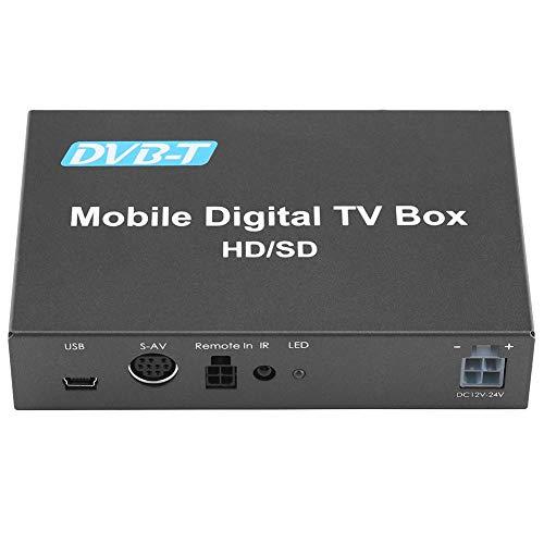 Digital TV Box, Fydun Mobiles HD/SD Auto Digital TV-Box Analog TV Tuner Hochgeschwindigkeits Empfänger mit 240 km/h und Starkem Signal für die Verwendung im Auto
