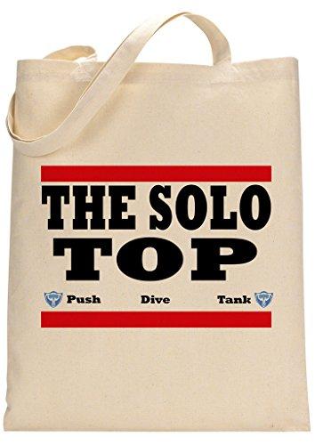 Gamer Quote Solo Top Push Dive Tank Custom Made Tote Bag -