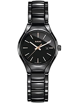 "RADO DAMEN-ARMBANDUHR 30MM ARMBAND KERAMIK + GEHÃ""USE BATTERIE ANALOG R27059162"