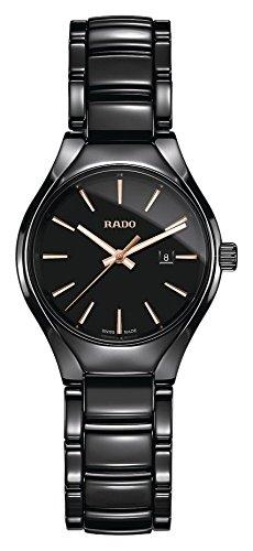 Rado True Damen-Armbanduhr 30mm Armband Keramik + Gehäuse Batterie R27059162