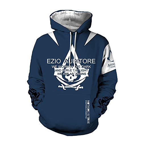 Tkiemos Assassin's Creed Pullover Komfortable Pullover Herren Langarm Top Lässige Farbmuster Rundhals Design Anzug Pullover Unisex (Color : A04, Size : S) (Creed S Anzug Assassin)