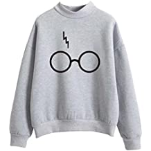 SIMYJOY Mujere Harry Potter Fans Sudaderas Niñas Cool Casual Linda Jersey Loose Fitting Top