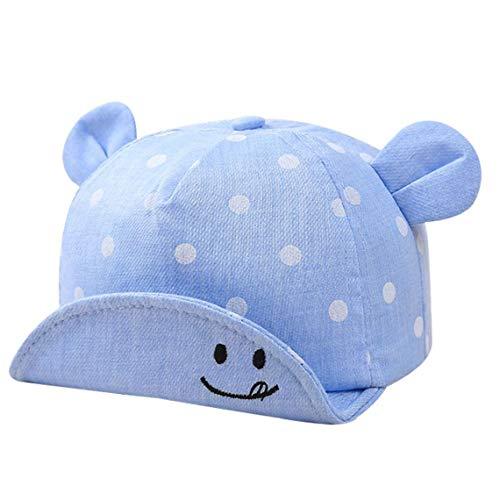 dchen Kind-Baumwollbaseballmütze Sun Cap Adjustable Sport-Hut-Punkt-Muster-Dome-Kappe Mit Ohren Für Unisex ()