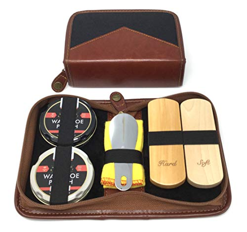Shoe Shine Kit,...