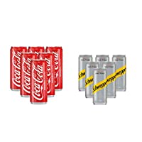 Coca-Cola Soft Drink, Cans - 6 X 330 ml With Soda Free - 6 X 250 ml